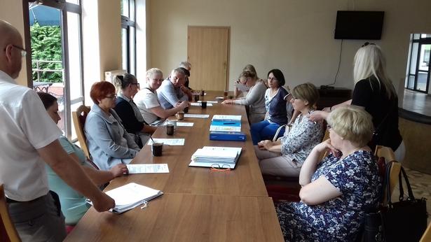 Zdjęcie ze spotkania organizacyjnego w Pieniężnie