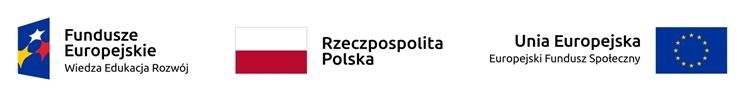 Baner z logotypami funduszy europejskich