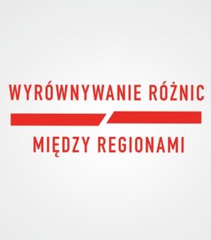 Logo - Wyrównywanie różnic między regionami